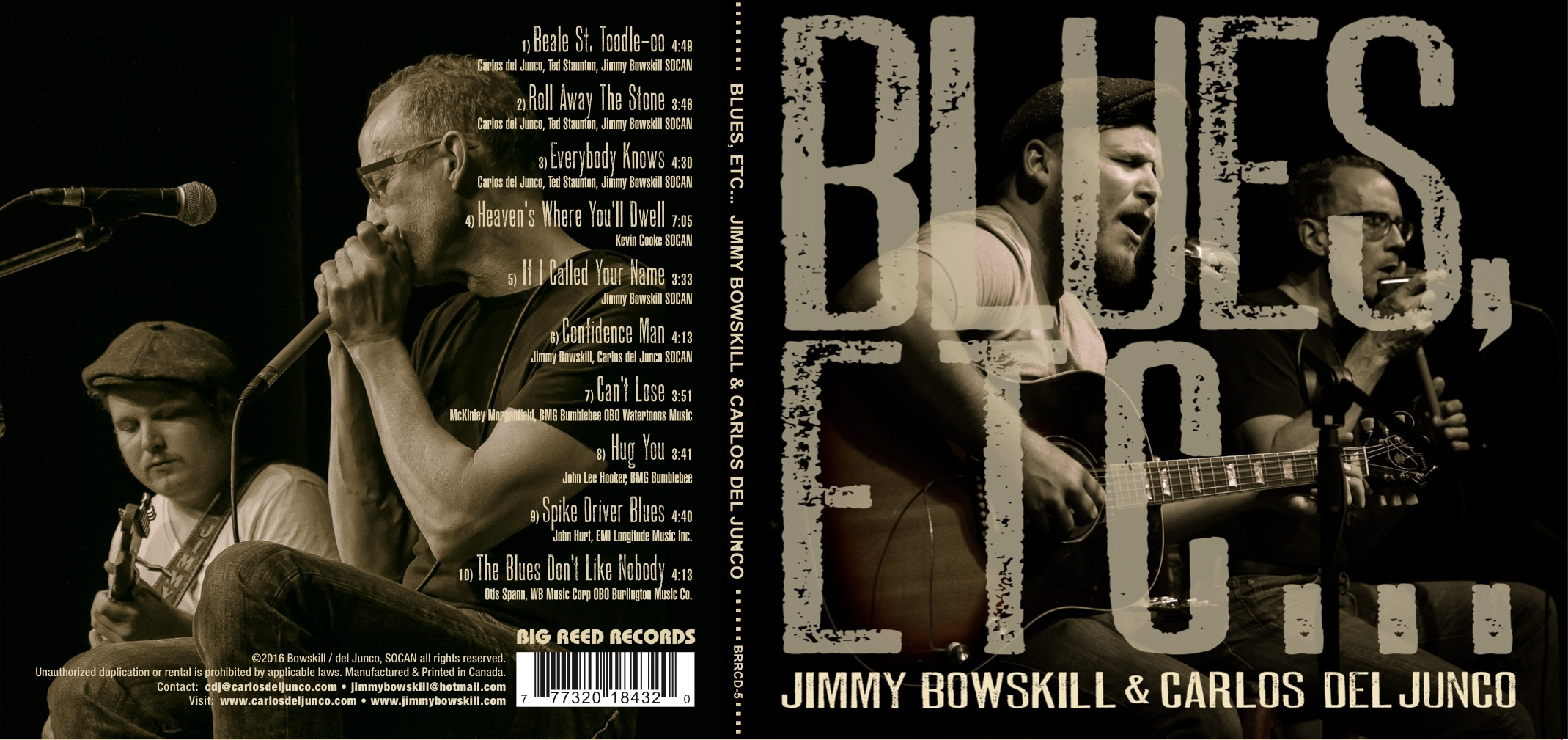 Jimmy Bowskill & Carlos Del Junco | Blues Etc... | artwork