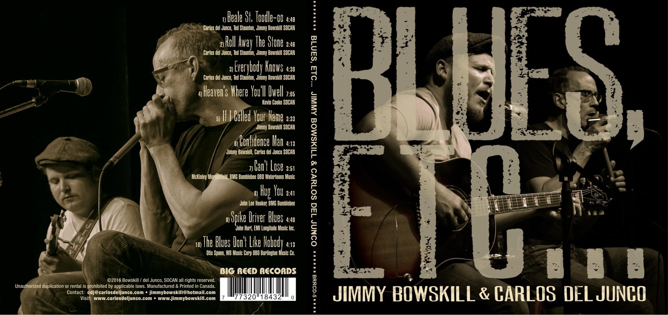 Jimmy Bowskill & Carlos Del Junco | Blues Etc... | artwork