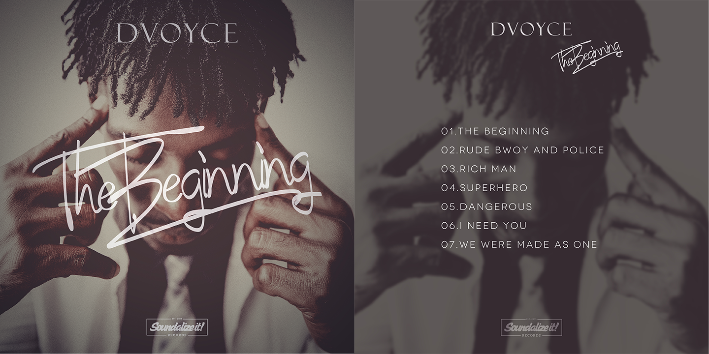 DVoyce | The Beginning EP | front & back cover
