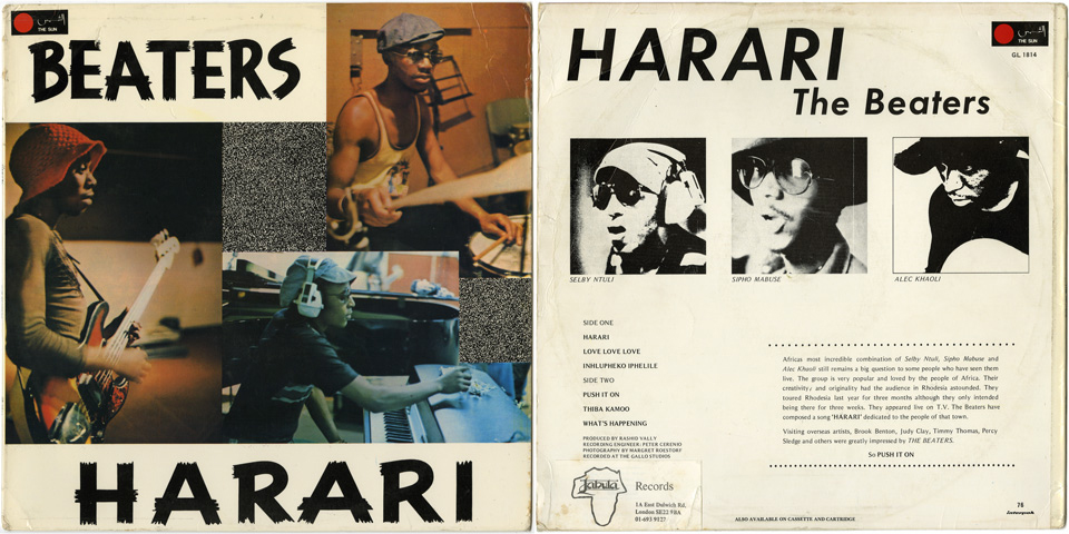 the album 'Harari' by The Beaters who would later change their band name into 'Harari'