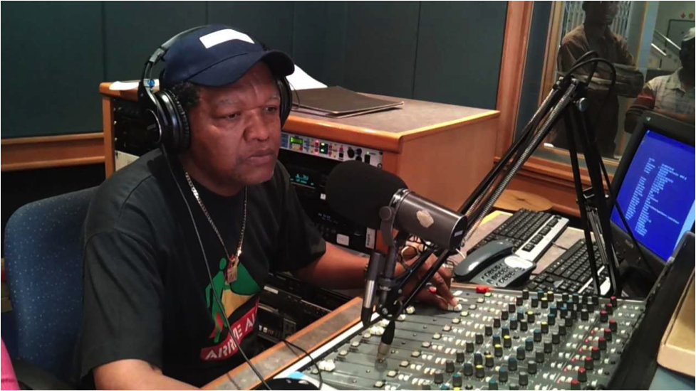 Max 'The Mixer' Mojapelo at the controls