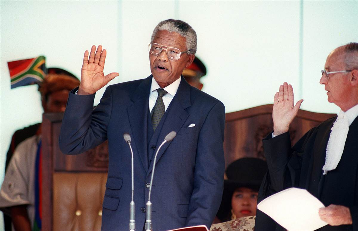 nelson mandela s inaugural speech Apartheid has no future- a rhetorical analysis of nelson mandela's speech  mandela's speech demonstrates an integration of all three dimensions.